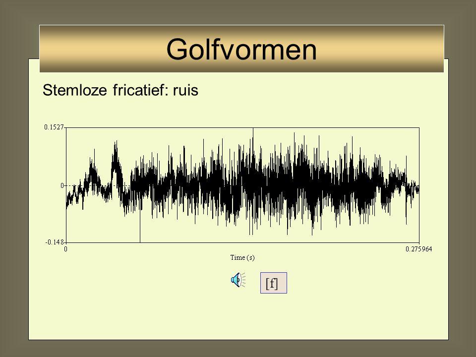 Golfvormen Stemloze fricatief: ruis [f]